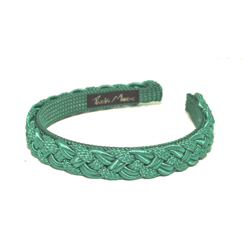 1.5 cm Green Hand Made Alice Band Cord Tresse - Parismodeshop Hair Accessories