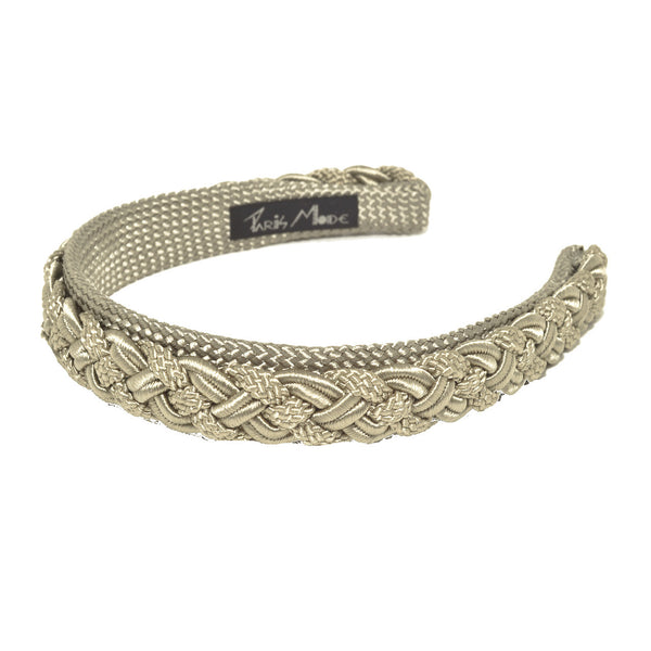 Alice Band Cord Tresse 2.5 Cm Noisette - Hand Made In France - Parismodeshop