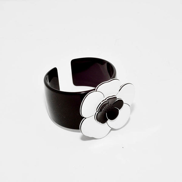 Camelia Cuff M Wb- Hand Made In France