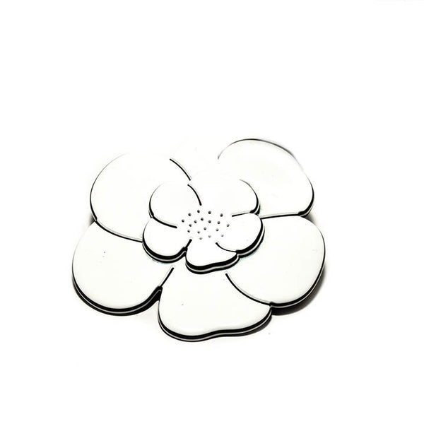 Broche Camelia M Ww- Hand Made In France