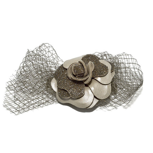 Audace Crystal Hair Clip Taupe - Parismodeshop