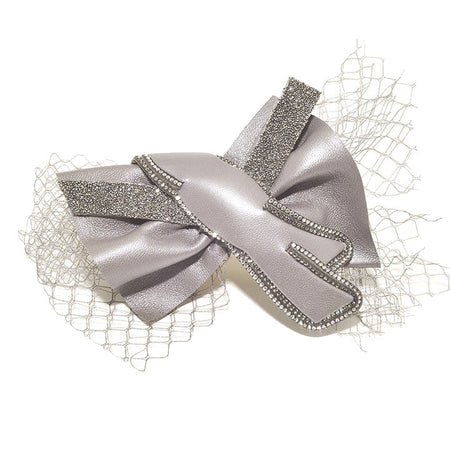 Alice Band Bow Brocade 1.5Cm Purple
