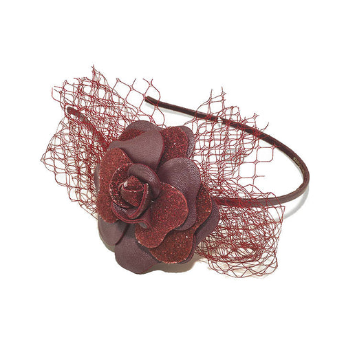 Hand Made Camelia Audace Crystal Alice Hair Band Red - Paris Mode Shop Online