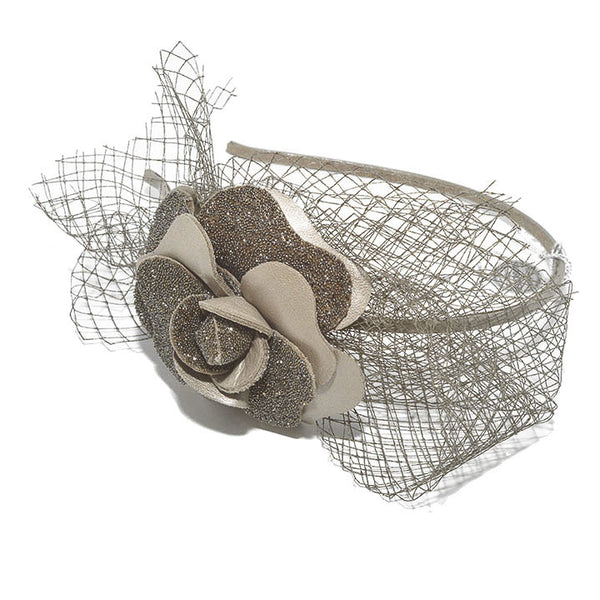 Audace Crystal Alice Band Taupe - Parismodeshop