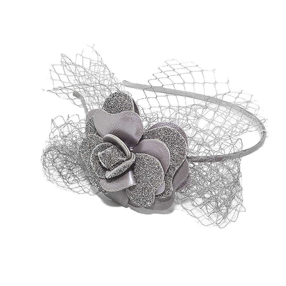 Grey Camelia Audace Swarovski Crystal Alice Hair Band - Parismodeshop AU