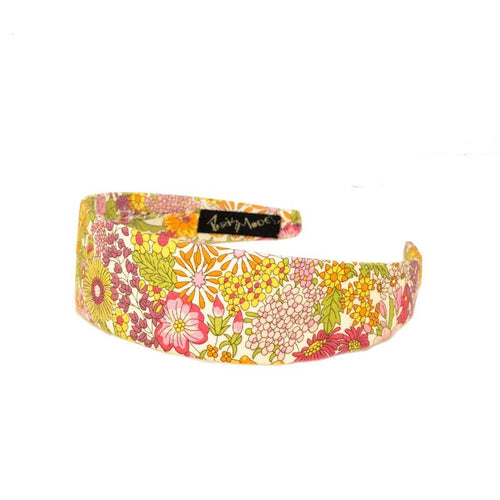 Alice Band Liberty Pink Flat Collection 4Cm Hand Made In France