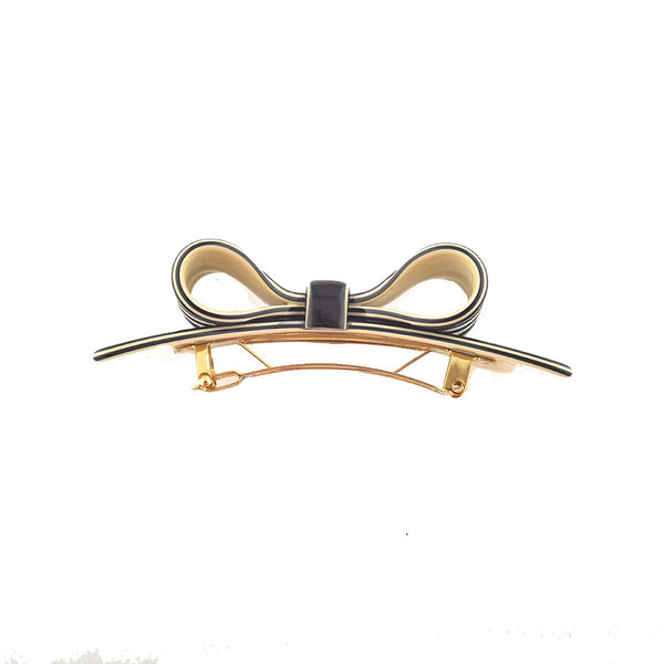 Hair Clip Bow Dbl S Rayc - Hand Made In France