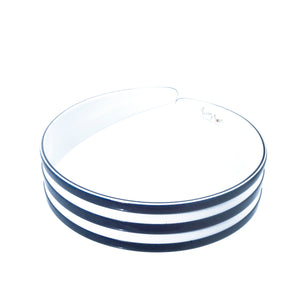 2.5 cm Navy and White Alice Band Medium Ray - Parismodeshop Paddington