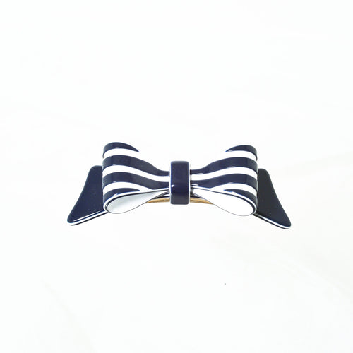 Hair Clip Bow Dbl S Rayn - Hand Made In France