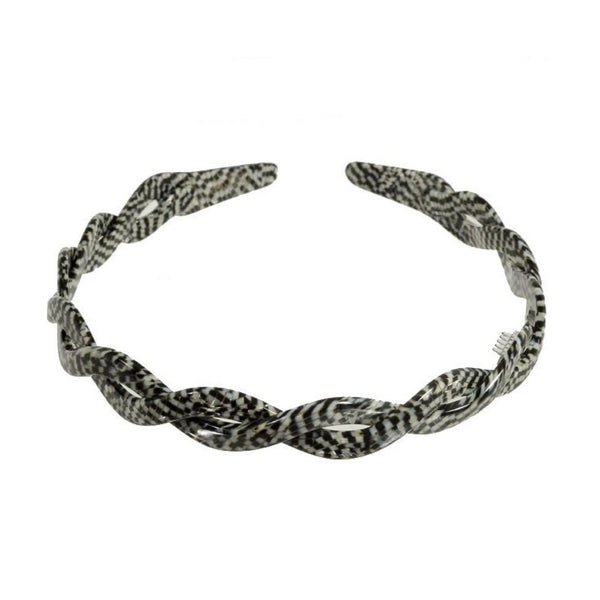 1 cm Damier Alice Band Twist - Hand Made Parismodeshop Hair Accessories Online