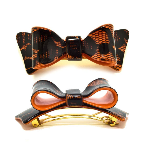 Hair Clip Bow Dbl L Do - Hand Made In France