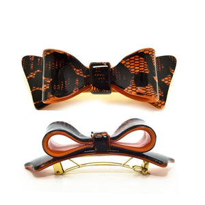 Hair Clip Bow Dbl S Do - Hand Made In France