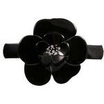Medium Camellia Crystal Barrette