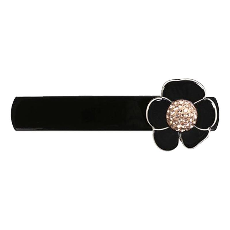 Hair Clip Camellia Pave Small