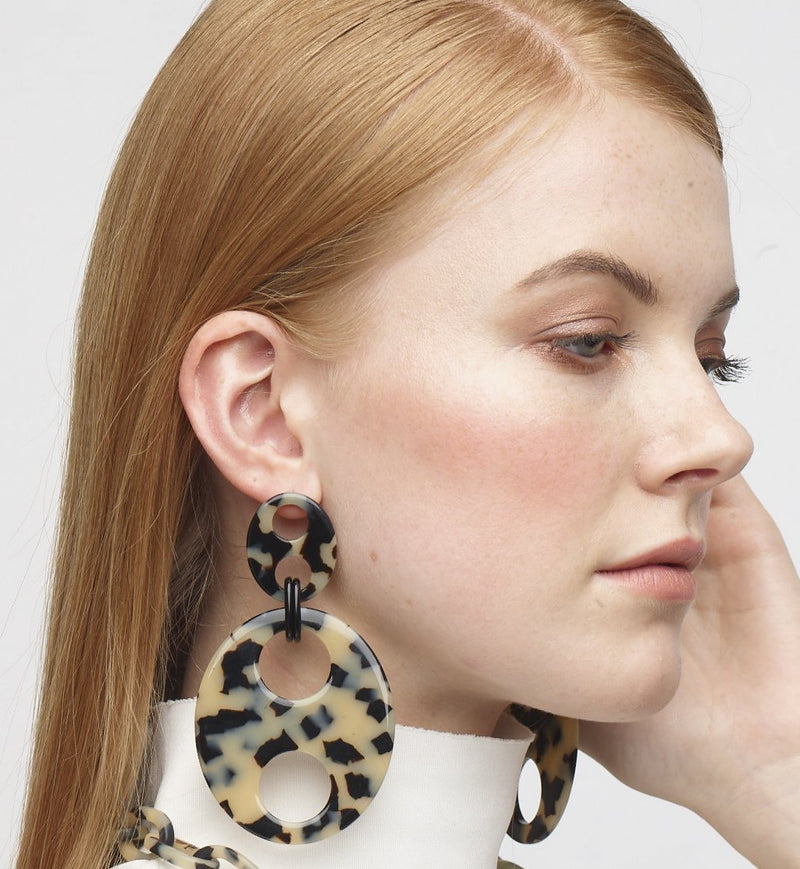 Haricot Double Large Earrings