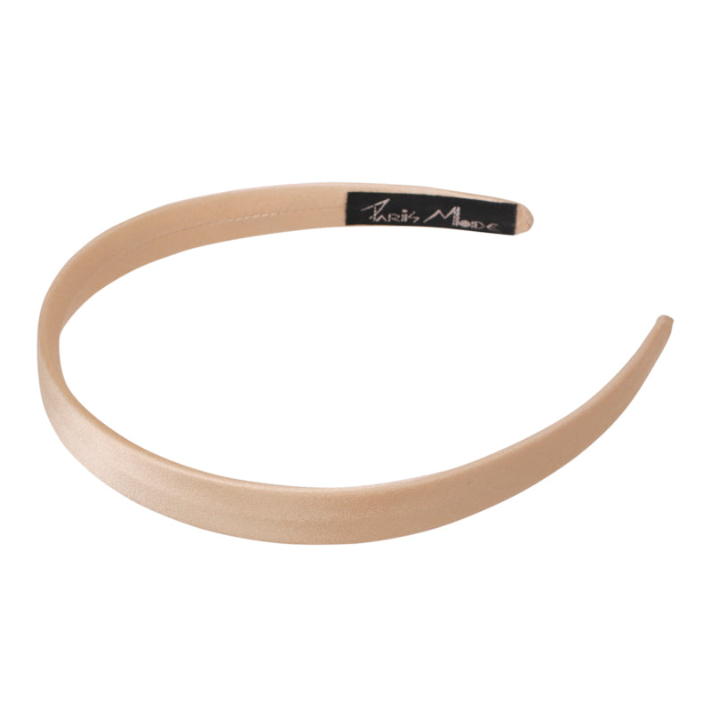 1.5 cm Gold Satin Flat Alice Hair Band Australia - Paris Mode Shop Online