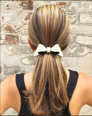 Hair Clip Bow Semis Perle - Parismodeshop