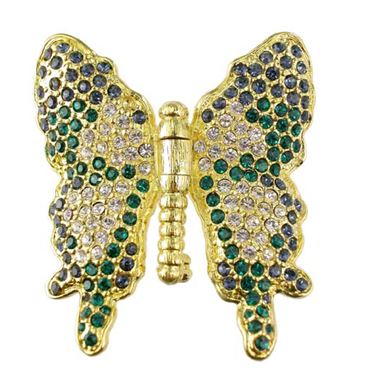 Salvador Dali Joies - Emerald and Montana Butterfly Pin