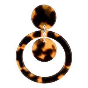 Double Disc Clip On Earrings - Parismodeshop