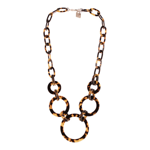 Five Circles Necklace Dark Tortoi Shell