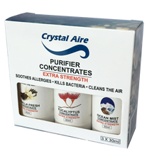 Crystal Aire Concentrates 30ml Eucalyptus, Vanilla and Ocean Mist Concentrates Gift Pack - C002