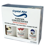 Crystal Aire Purifer 30ml Eucalyptus, Vanilla and Ocean Mist Concentrates Gift Pack - C002