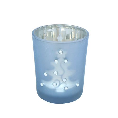Tea light candle glass holder