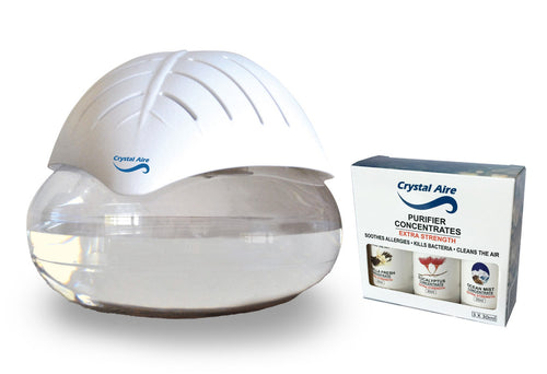 Crystal Aire Standard Air Purifier Bundle with C002 Concentrates