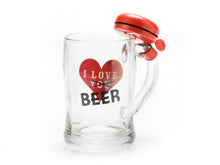 Novelty Beer Mug with Bell - red