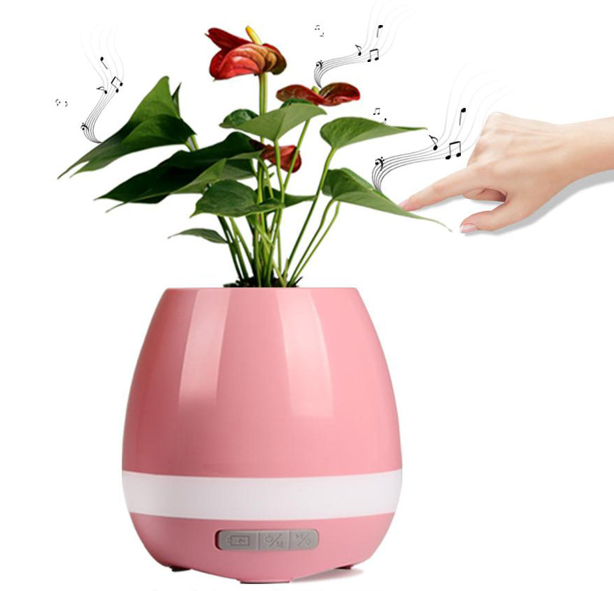 Pink Music Flower pot with bluetooth
