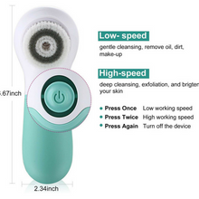 Touch Beauty - Electric Facial Cleanser - white & Green