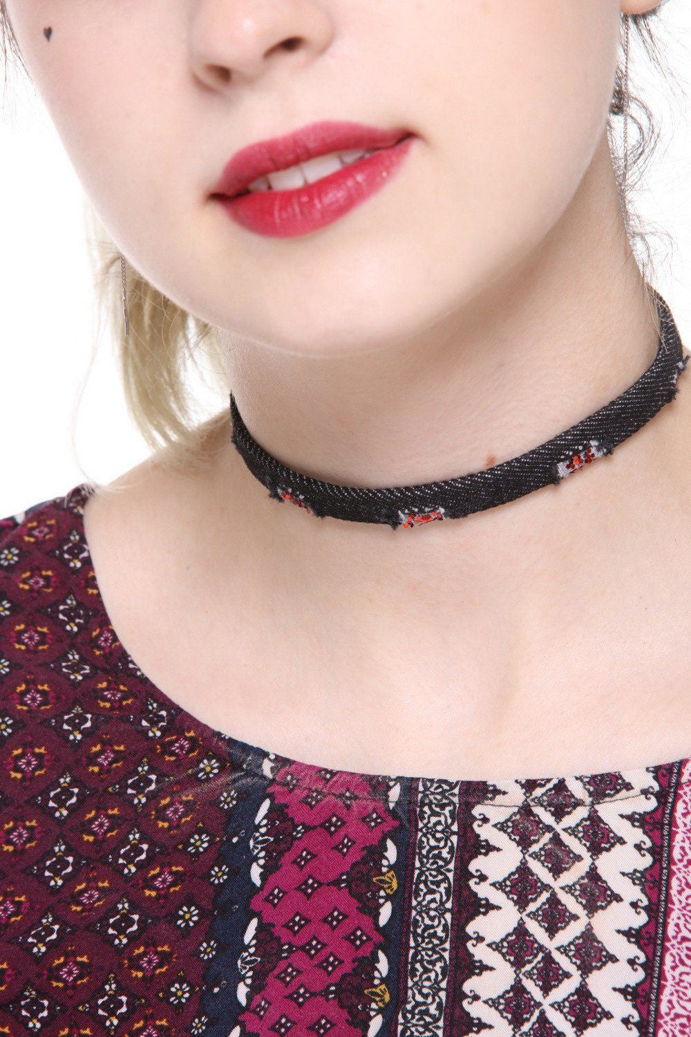 Dark Denim Choker - Ciduire