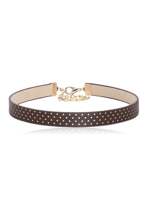 Polka Dot Saddlebrown Choker - Ciduire