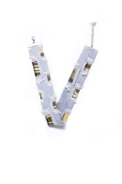 Distressed Denim Choker - Ciduire