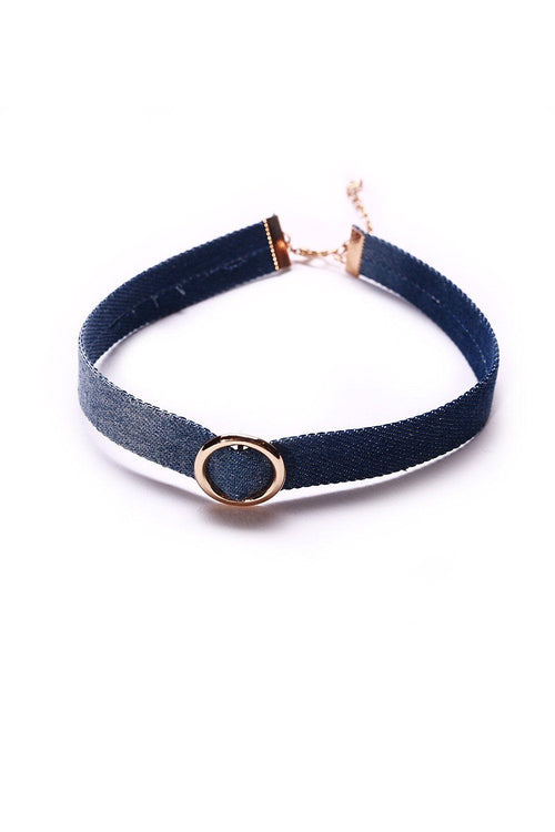 Denim O-Ring Choker - Ciduire