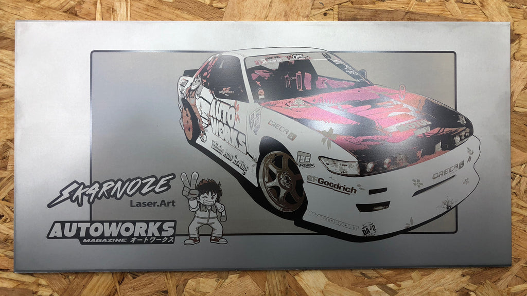 Nissan S13 Drift Machine<br>Skarnoze x Auto Works<br>Automotive Laser Art