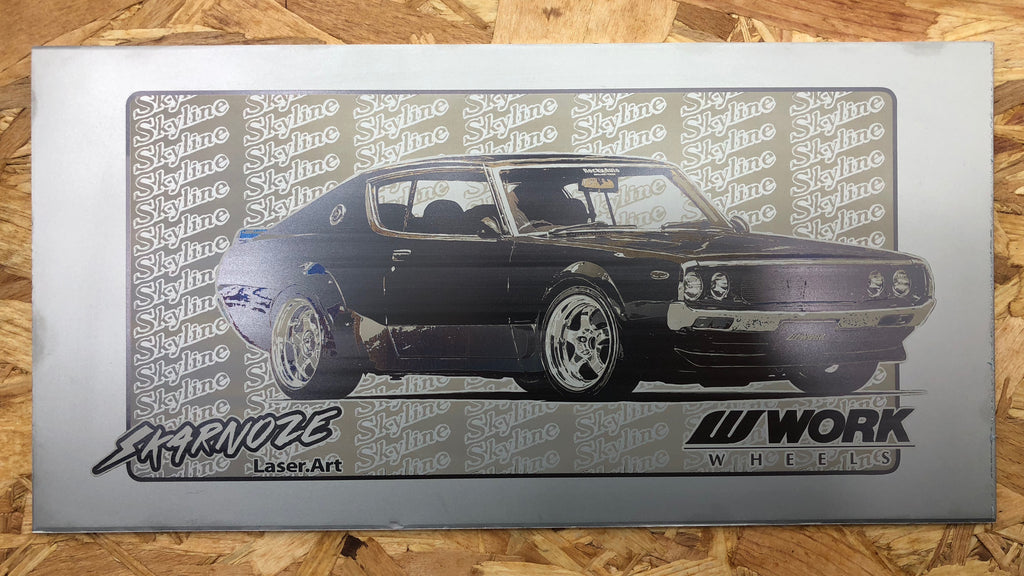 Nissan C110 Kenmeri<br>SkarNoze x Work Wheels Japan<br>Automotive Laser Art