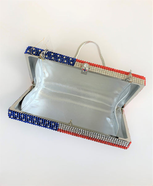 Crystal American Flag Bag