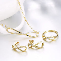 Fashion 3 suit ring earrings necklace
