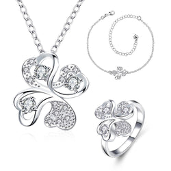 Fashion popular  silver plated jewelry set