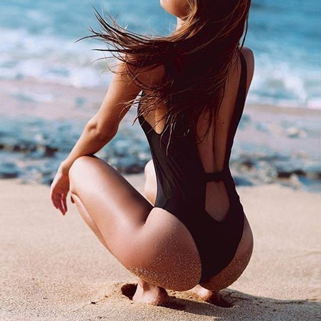Serene Black One Piece