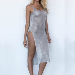 Long Mesh Cover Dress