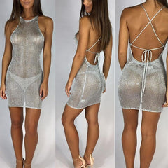 Mini Mesh Cover Dress