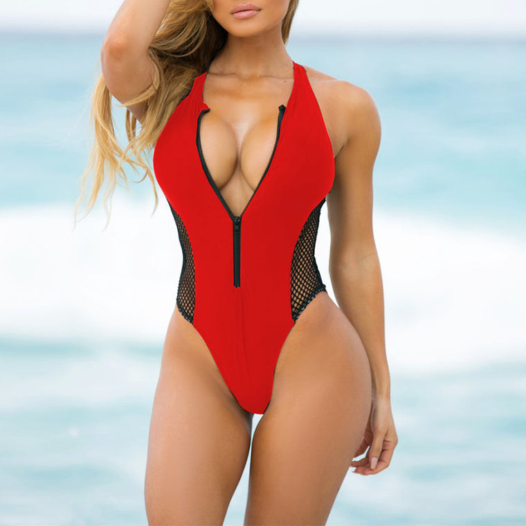 Poria Zipper One Piece