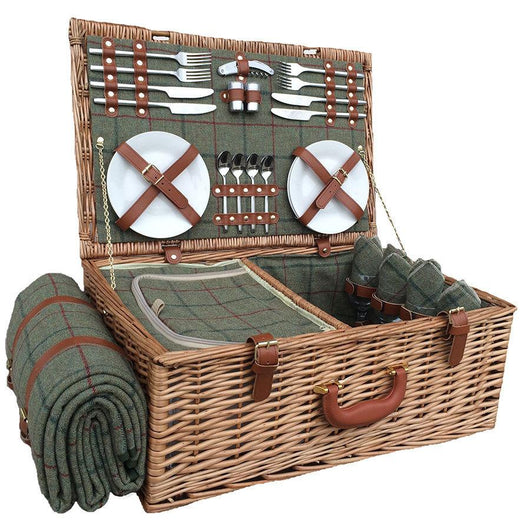 Luxury Fitted Willow Picnic Hamper Luxury Hampers Uk Candle And Blue Candle And Blue Interiors