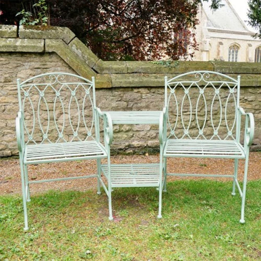 Belmont Lovers Garden Bench Garden Furniture Candle and Blue Interiors