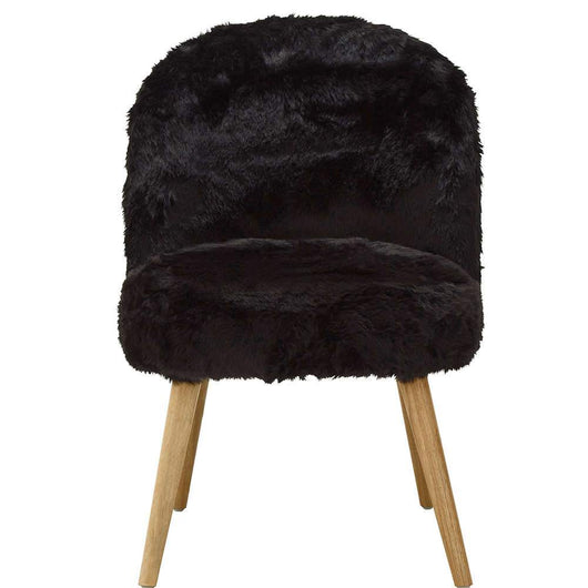 Cabaret Chair Black Faux Fur Designs Candle and Blue