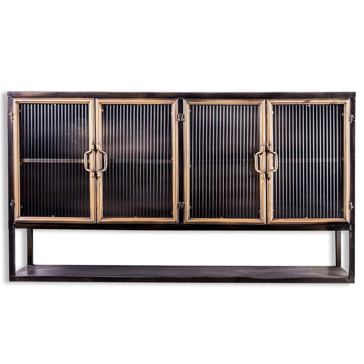 Calla Antique Black and Gold Sideboard Side Tables Candle and Blue Interiors