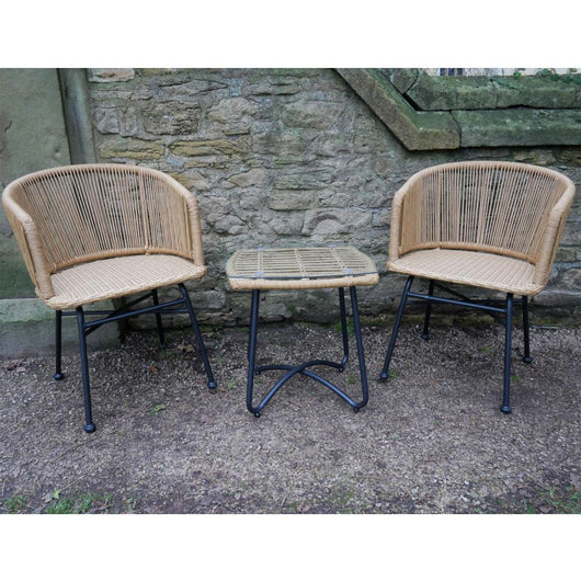 Conservatory 3 Piece All Weather Set - Caribbean Garden Furniture Candle and Blue Interiors