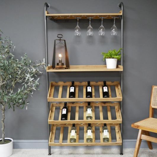 Industrial Lean To Wine Cabinet Industrial Style Candle and Blue Interiors